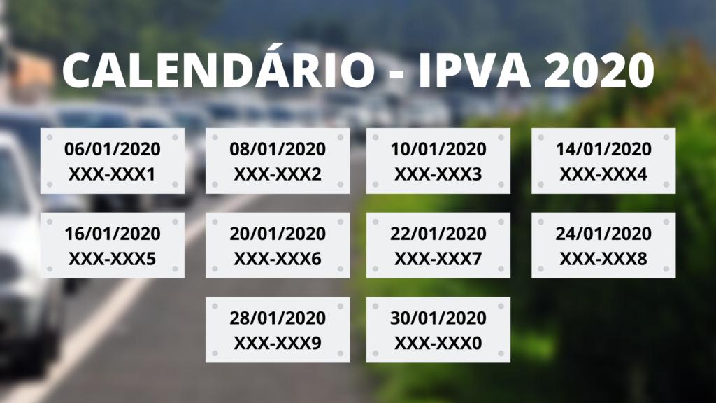 IPVA 2020 não poderá ser parcelado