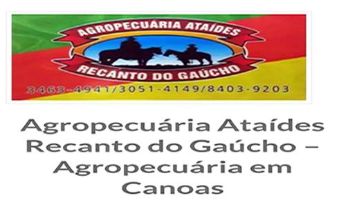 Agropecuária Ataídes Recanto do Gaúcho e clínica veterinária