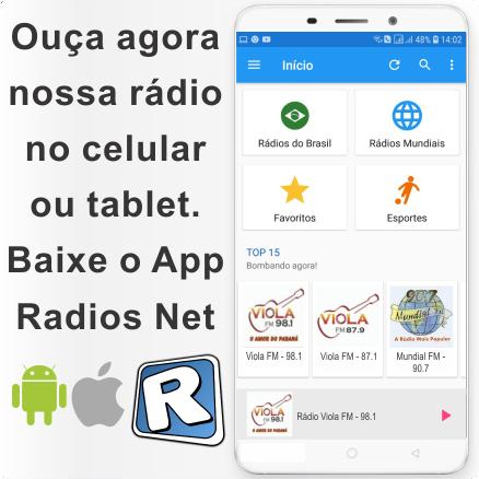 Baixe o App RadiosNet